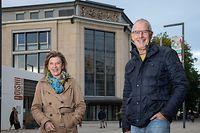 Kultur , Esch/Alzette , Theater Esch , ITV Rol Gehlhausen u. Christiane Kraemer , Kabarett Sinn mer nach ze retten , Foto:Guy Jallay/Luxemburger Wort