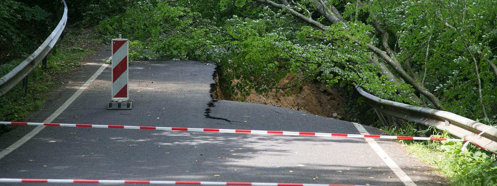 Bei den Unwettern im Juni waren zwei von drei Straßenverbindungen nach Berdorf zerstört worden.