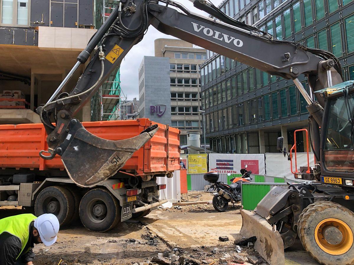 Le Royal-Hamilius est l'un des chantiers qui assure une croissance au secteur, malgré les aléas des embauches.