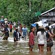 """Bei dem Tropensturm """"Kai-Tak"""" sind 17 Menschen ums Leben gekommen. Bei dem noch schlimmeren Sturm """"Haiyan"""" vor vier Jahren starben 7.300 Menschen."""