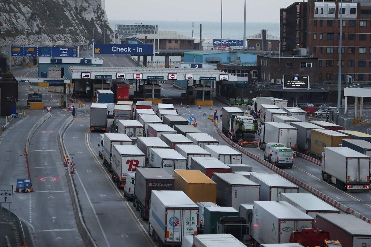 Les blocages dans les ports, comme ici à Douvres, seraient légion en cas de no deal.