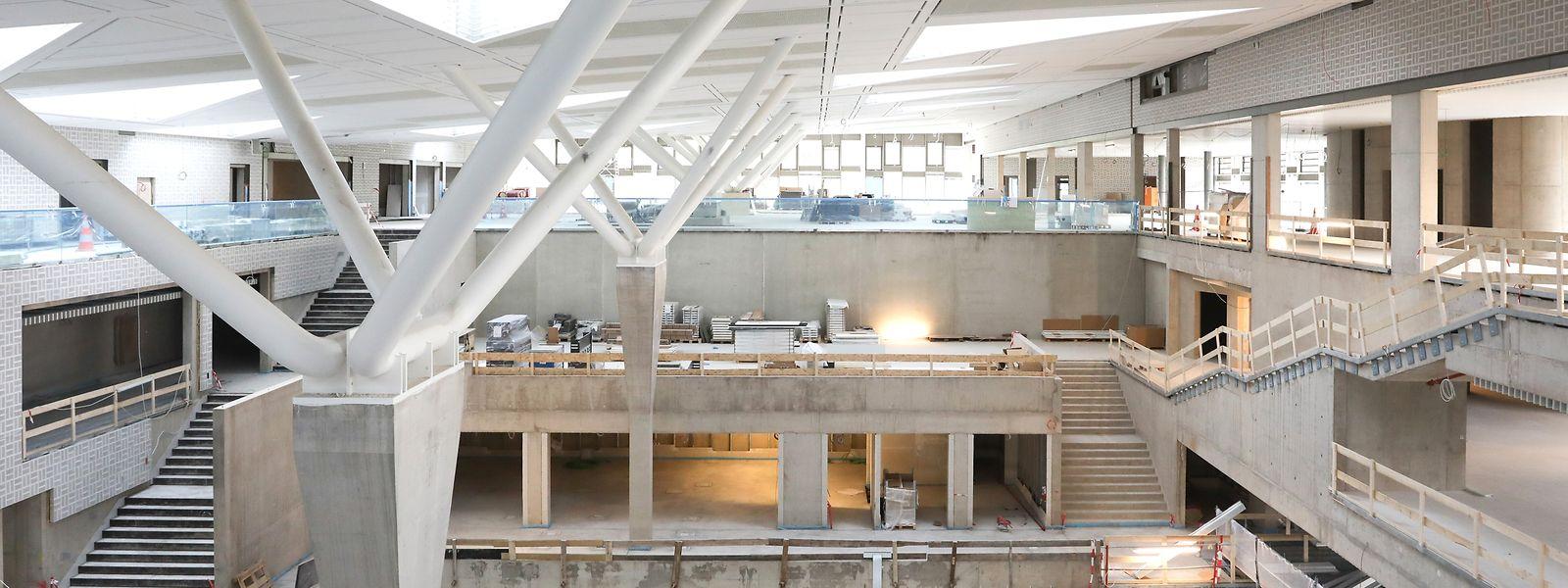 Im Inneren des Neubaus: Tageslicht darf ruhig einfallen. Die Lichtplanung ist so genau, dass die Bestände nicht gefährdet werden.