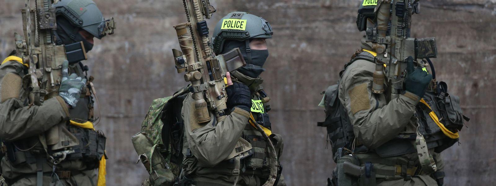 Die Spezialeinheit der Polizei war bei den Einsätzen beteiligt.