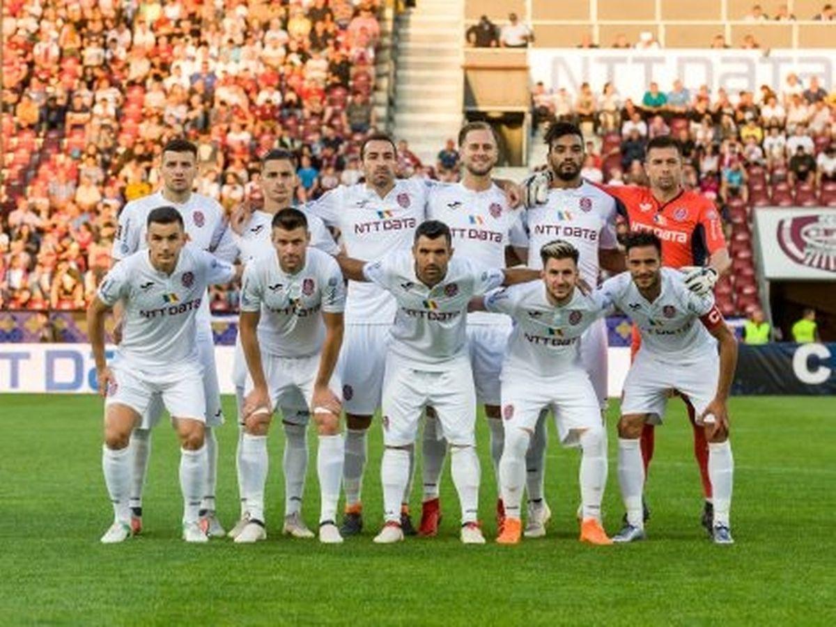 L'équipe de Cluj qui a battu le Dinamo Bucarest 3-1 ce week-end
