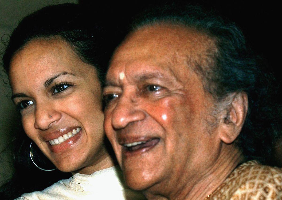 Ravi Shankar mit Tochter Anoushka.