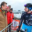 Großherzog Henri besuchte die Strecke der Cyclocross-Weltmeisterschaft - im Gespräch mit Tristan Parrotta - Bieles2017 - Foto: Serge Waldbillig