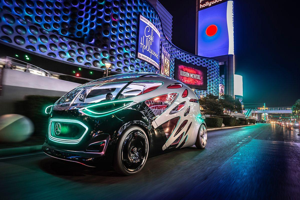 Flexibler Freund: Die Studie Urbanetic von Mercedes-Benz soll sich mit unterschiedlichen Aufbauten an verschiedene Transportszenarien anpassen können.