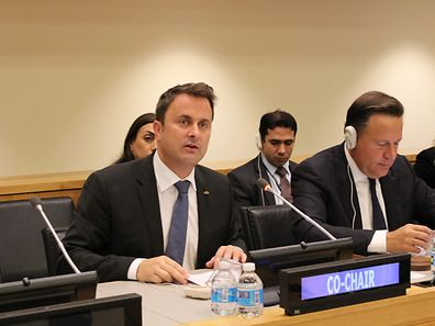 "Xavier Bettel chaired a panel entitled ""Eliminating the root causes of mass movement of migrants"