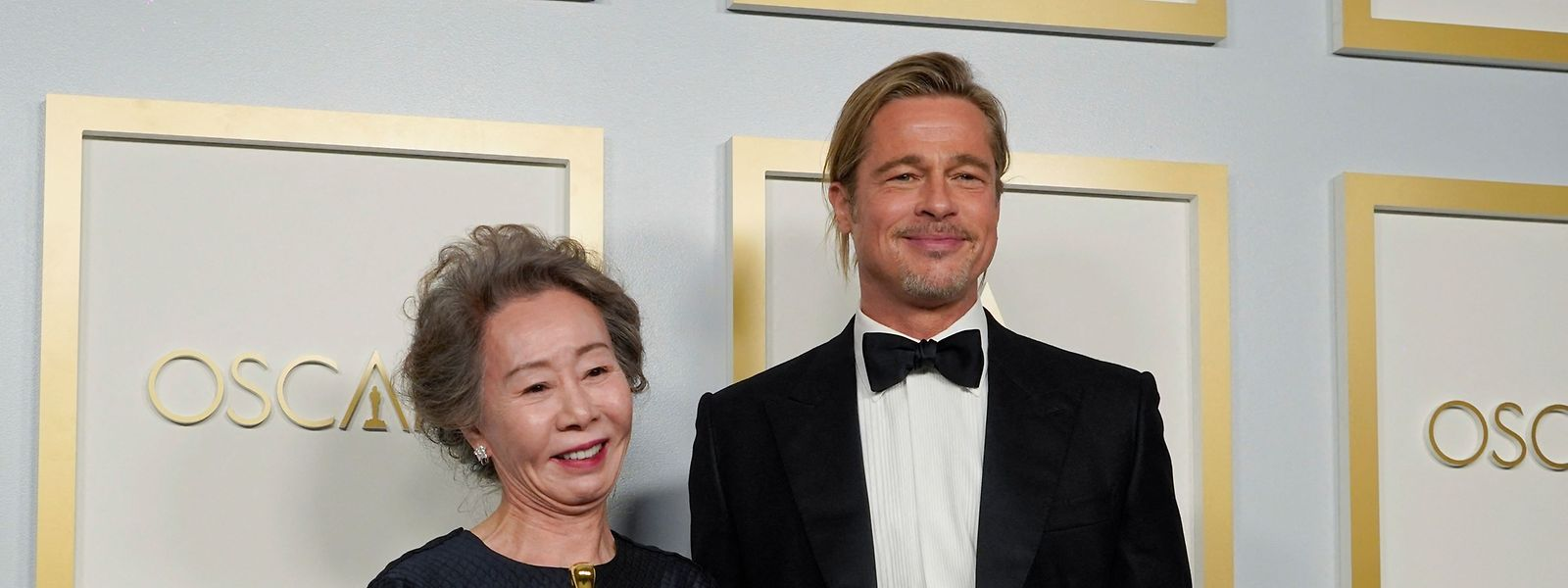 A atriz sul-coreana, Yuh-Jung Youn, vencedora do Óscar de Melhor Atriz Secundária, por 'Minari', produzido por Brad Pitt.