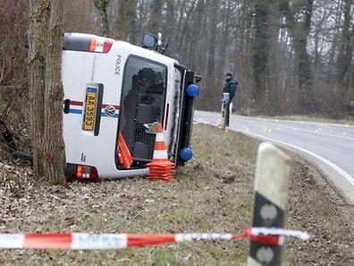 Raub Überfall G4S Gasperich Polizei 03.04.2013