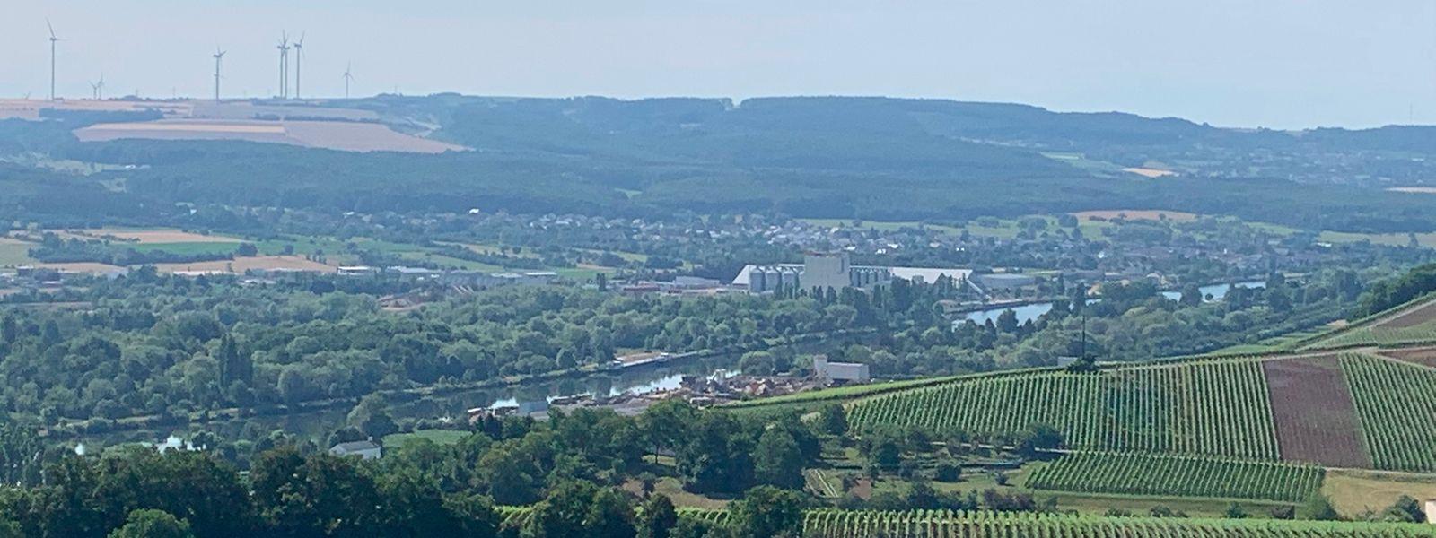 Der Aussichtspunkt in Remich ist der ideale Platz für eine kleine Pause. Von dort bietet sich ein toller Blick über das Moseltal.