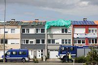 Lokales Tornade Petange-Bascharage, travaux , nettoyage, foto: Chris Karaba/Luxemburger Wort