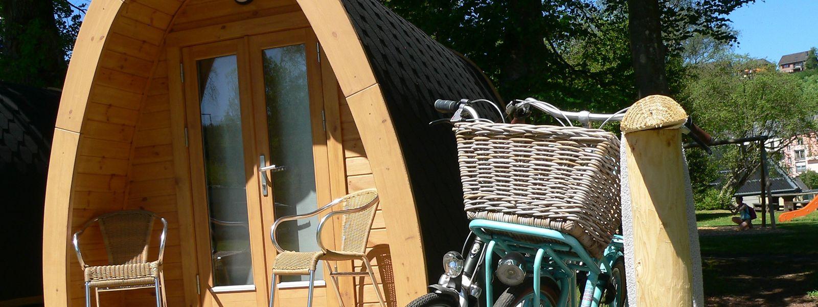 Le camping de Troisvierges: les hébergements originaux et surtout, qui permettent d'abriter mieux qu'une simple tente, sont prisés des touristes.