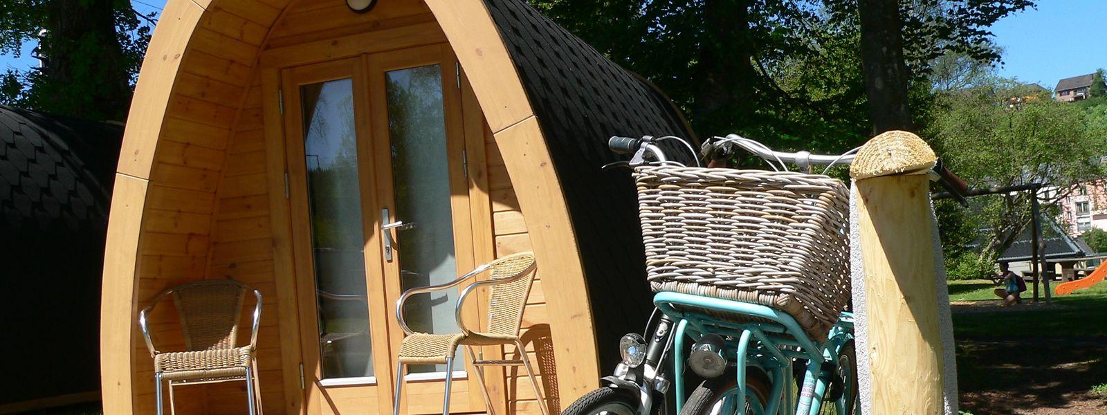 Vor allem Mietobjekte wie dieses Camping-POD fanden dieses Jahr großen Anklang bei den Campern.