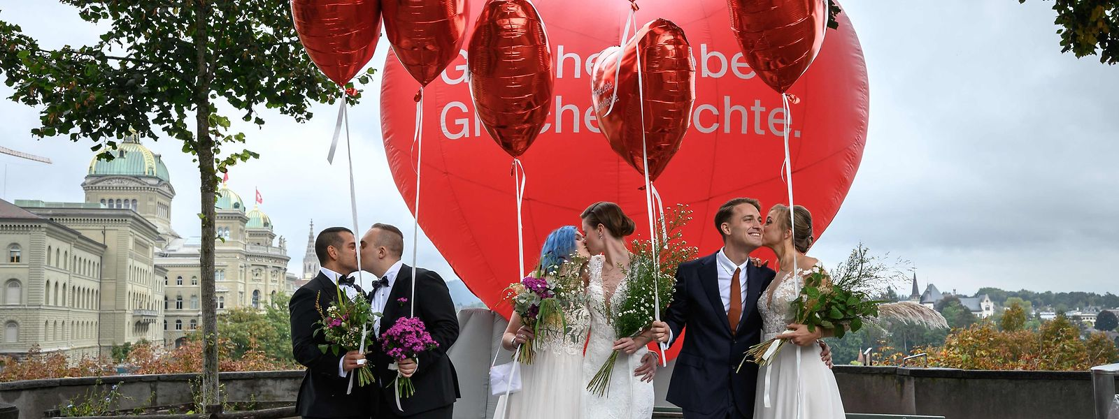 Über 60 Prozent der Schweizer haben sich für die Ehe für alle ausgesprochen. Nun kann das Gesetz in Kraft treten.