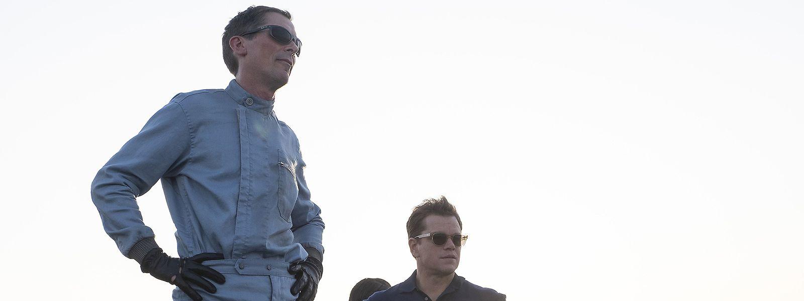 Christian Bale (l.) und Matt Damon spielen das geniale Rennsportduo Miles/Shelby.