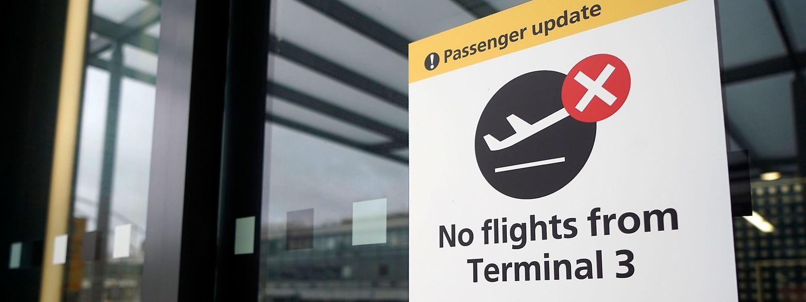 Le Luxembourg a suspendu tous les vols en provenance du Royaume-Uni jusqu'au 3 janvier.