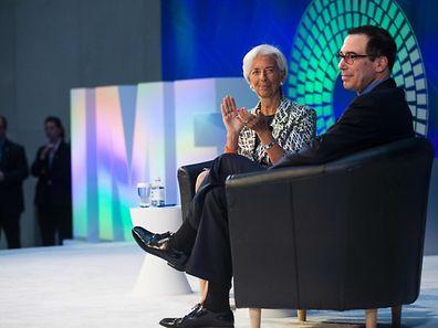 IWF-Direktorin Christine Lagarde und US-Finanzminister Steven Mnuchin kritisierten beide den hohen Exportüberschuss Deutschlands.