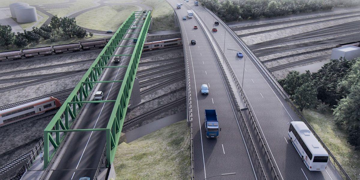 Die neue Brücke wird parallel zur Autobahnbrücke (A13) verlaufen.