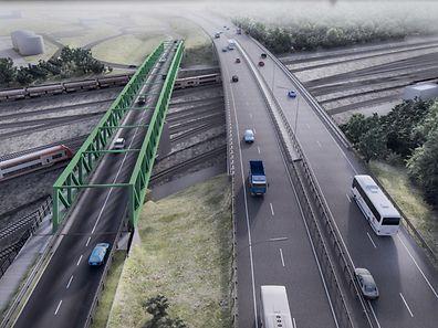 Centre logistique Eurohub Sud,cérémonie de démarrage des travaux liés à la réalisation du viaduc.Foto:Gerry Huberty
