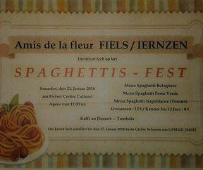 Spaghettisfest @Larochette Amis de la Fleur