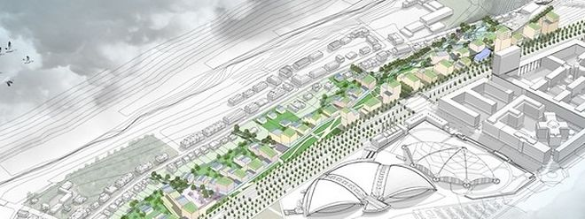 """In den kommenden Jahren sollen die Stadtviertel Weimershof und Kirchberg zu einer urbanistischen Einheit zusammenwachsen. Das Projekt """"Kennedy Sud"""" spielt dabei eine tragende Rolle."""