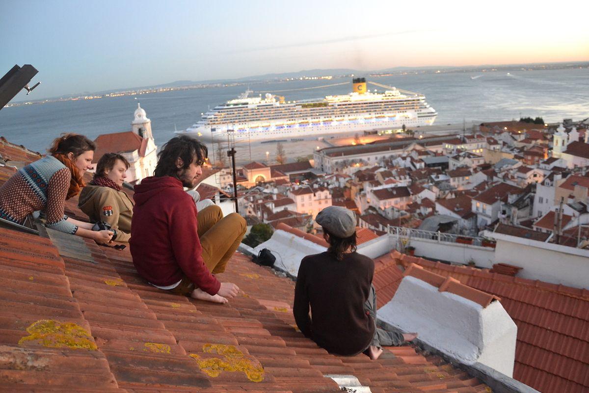 Vista parcial sobre Lisboa