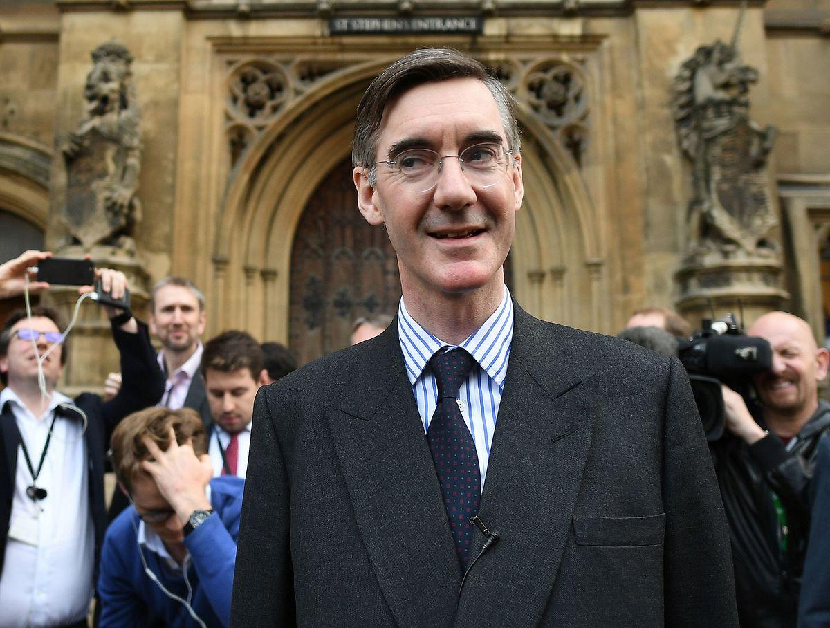 Zu den Getreuen gehört dieser Mann allerdings nicht: Jacob Rees-Moog.