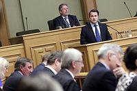 02.04.14 Rede zur Lage der Nation, Chambre des deputes, Luxemburg, Premierminister Xavier Bettel, Foto: Marc Wilwert