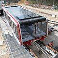 Die Standseilbahn fährt ab dem 10. Dezember an der neuen Haltestelle Pfaffenthal-Kirchberg.