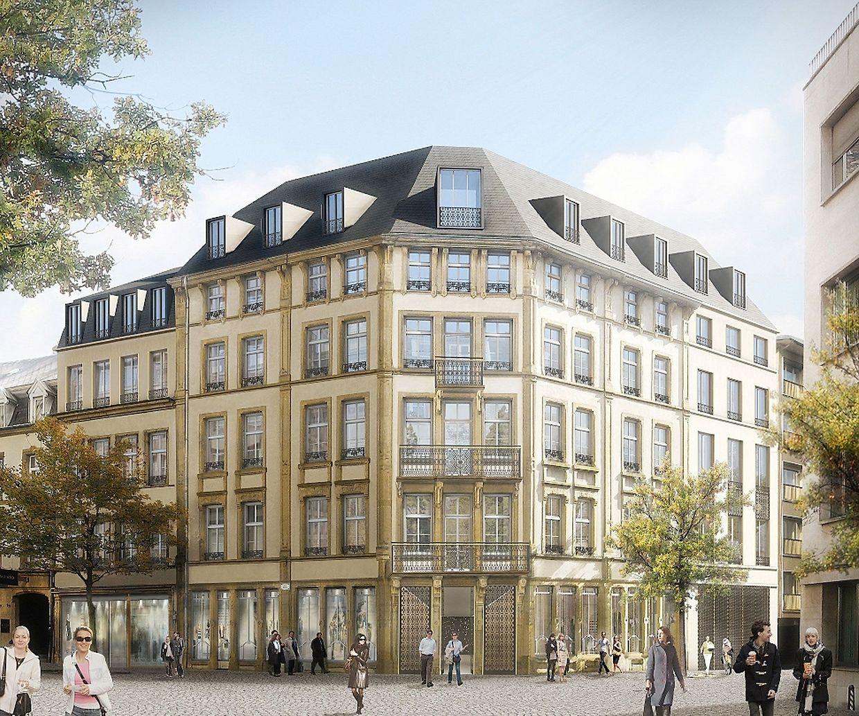 Situé à deux pas du centre Hamilius, le Fënsterschlass est un projet résidentiel haut de gamme.