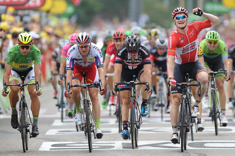 André Greipel (D/Lotto-Soudal) gewinnt die 15. Etappe
