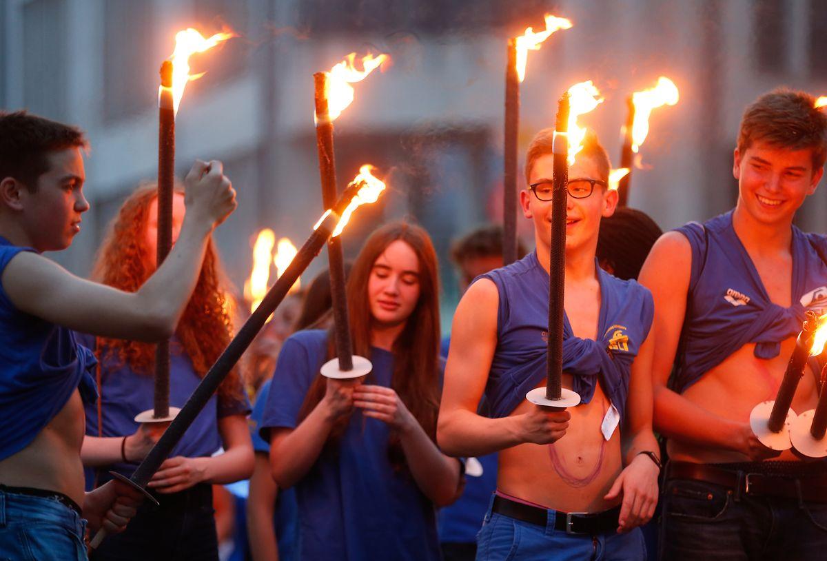La marche aux flambeaux a été annulée à Vianden, en raison du covid.
