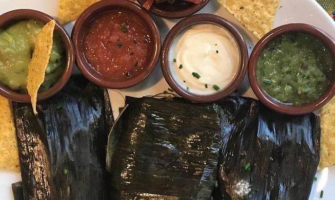 Tamales at Frida Cantina, known for its authentic Mexican food