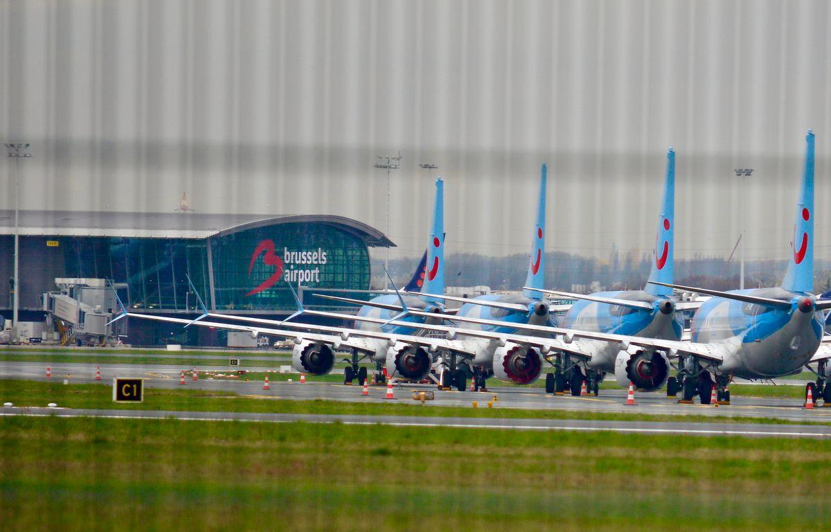 Boeing 737 MAX-Flugzeuge stehen am Flughafen Brüssel-Zaventem. Nach zwei Flugzeugabstürzen ist EU-weit die gesamte Flotte von Boeing 737 MAX am Boden.