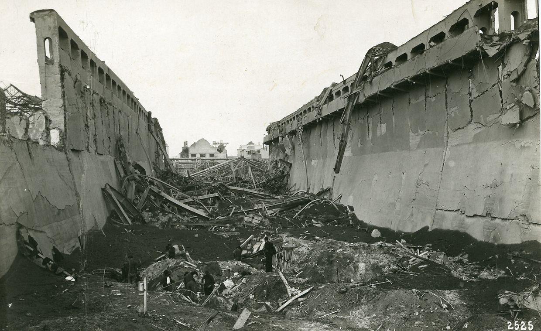 Am 21. September 1921 explodierte in dem BASF-Werk ein Silo mit Ammonsulfatsalpeter.