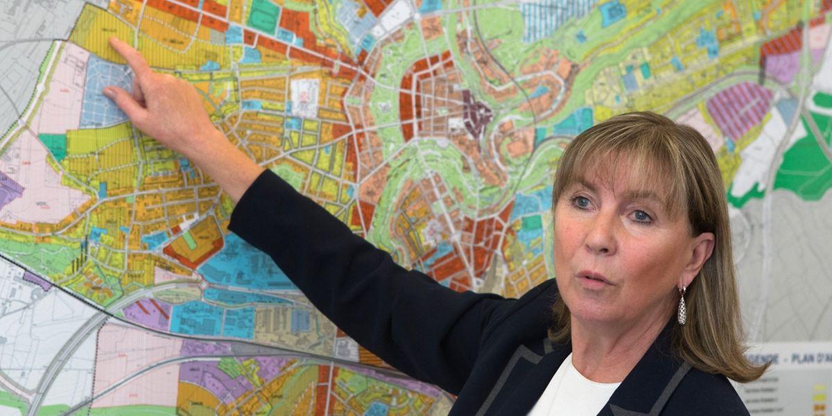 """Bürgermeisterin Lydie Polfer ist vom neuen Bebauungsplan überzeugt: """"Die Stadt wird in zehn bis 15 Jahren noch schöner sein als heute."""""""