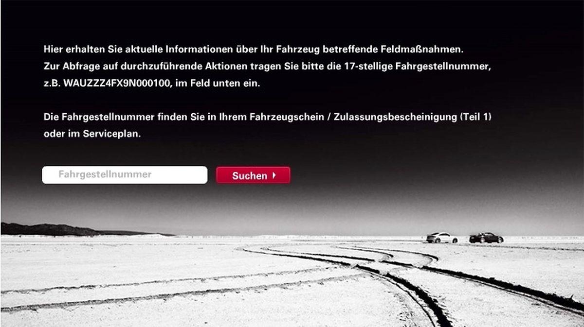Zusätzliche Informationen finden Sie auf der Audi-Website.