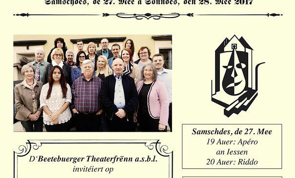 D'Beetebuerger Theaterfrënn asbl spillt am Fréijoer: