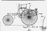 Am 29. Januar 1886 erhielt Carl Benz unter der Nummer 37 435 das deutsche Patent auf sein Motorfahrzeug. Diese Patenschrift markiert den Beginn des Automobilismus. Sie beschreibt die erste funktionelle Einheit eines Motors mit einem Fahrgestell - den Patent-Motorwagen von Carl Benz.
