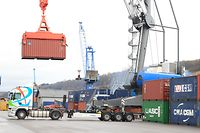 30.01.2015 Luxembourg, Mertert, Luxport, Containerterminal Hafen Mertert  photo Anouk Antony