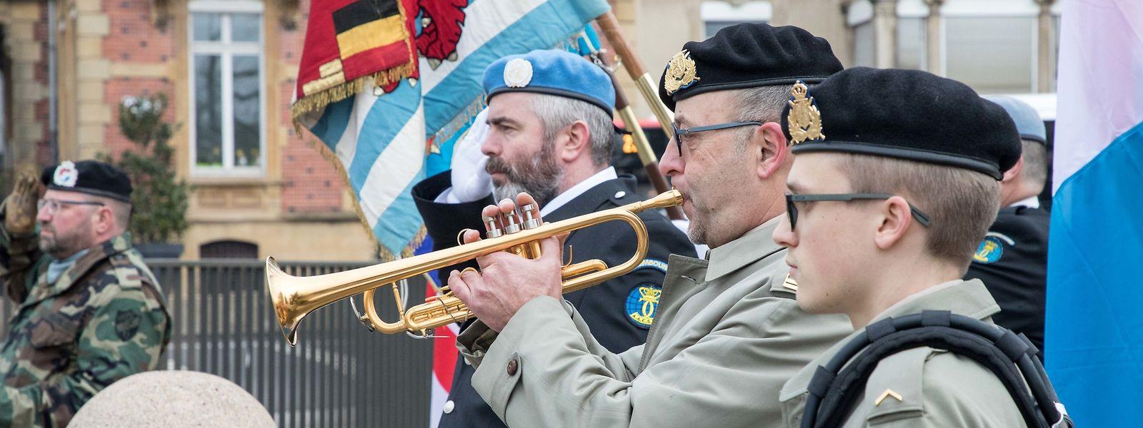 In Gedenken an den Einmarsch der alliierten Truppen wurde am Samstag eine Zeremonie in der Hauptstadt abgehalten.