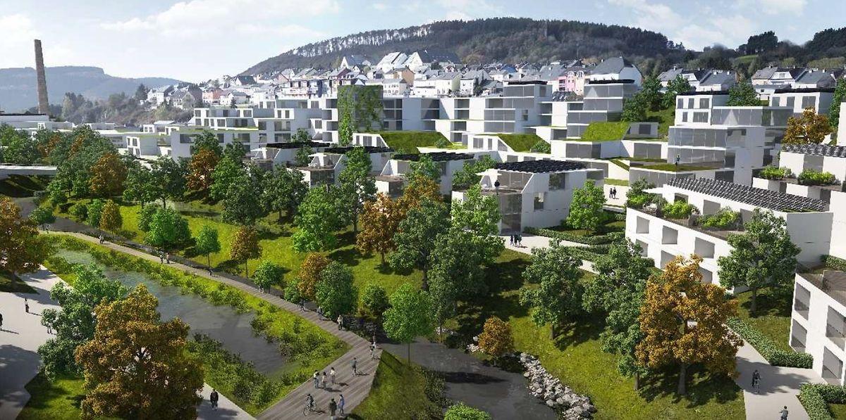 Quartier Geetz, vue vers le sud