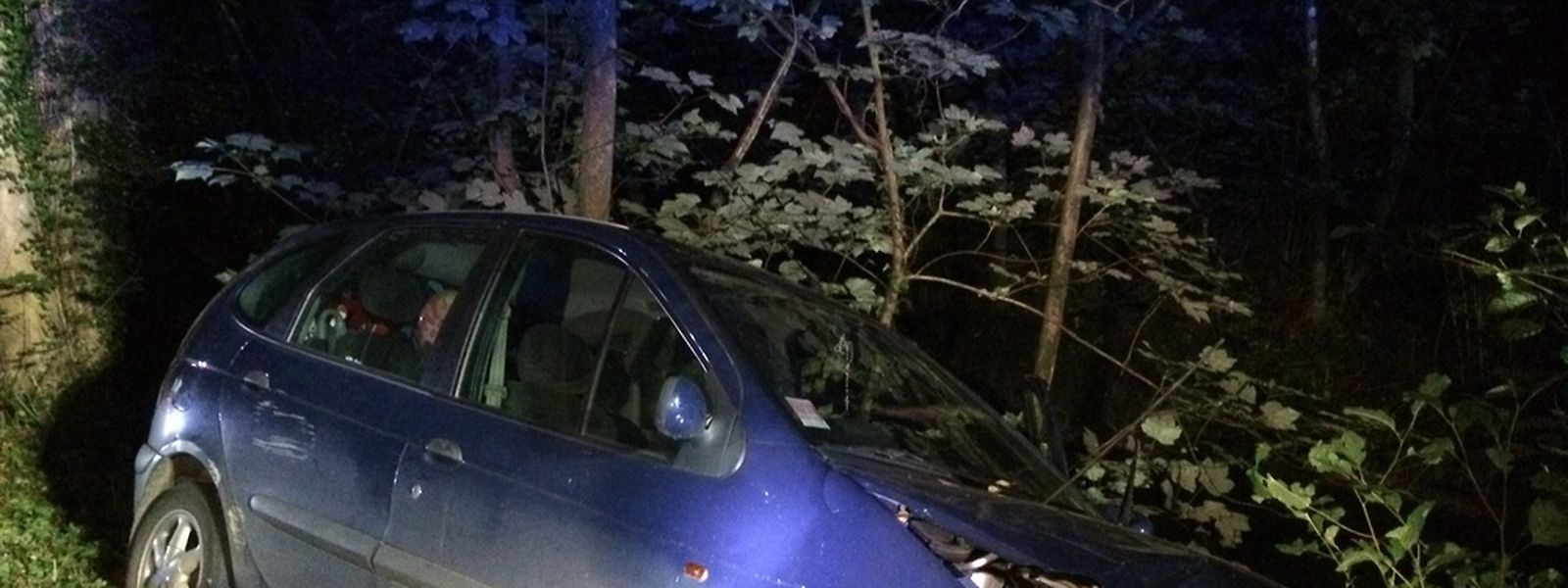 No acidente perto de Larochette, o motorista ficou com ferimentos ligeiros