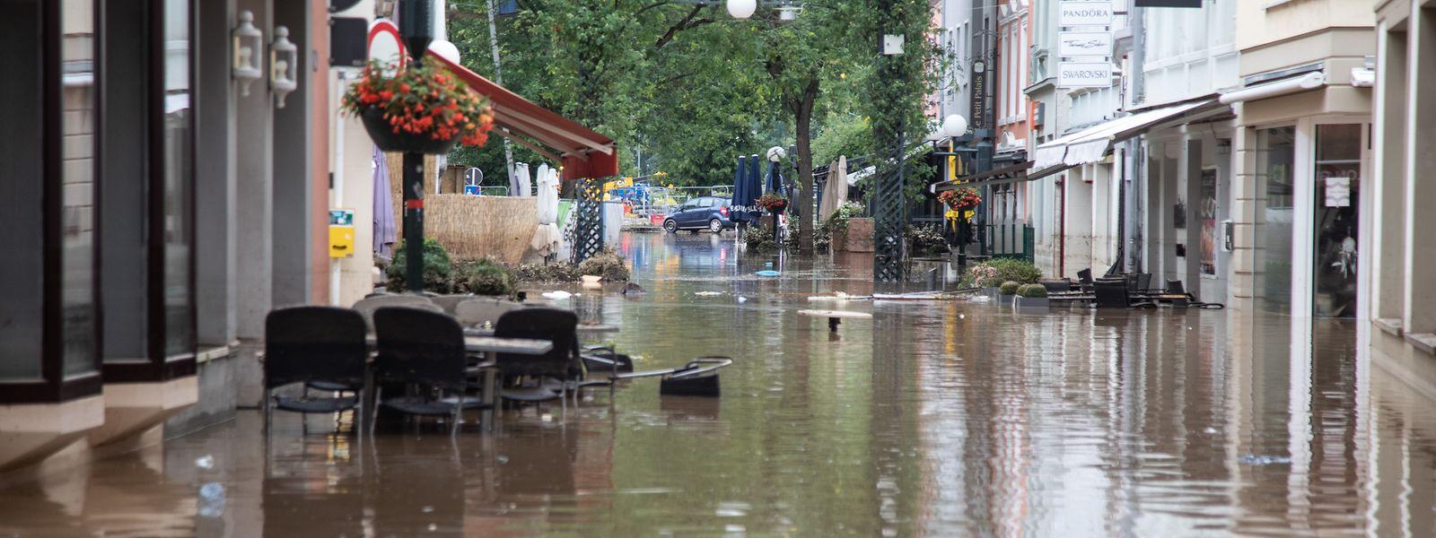A Echternach, le niveau d'eau est monté au-dessus des dispositifs anti-crues, rapporte l'administration de la gestion de l'eau.