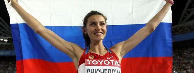 Olympiasiegerin Anna Chicherova soll 2008 in Peking gedopt haben