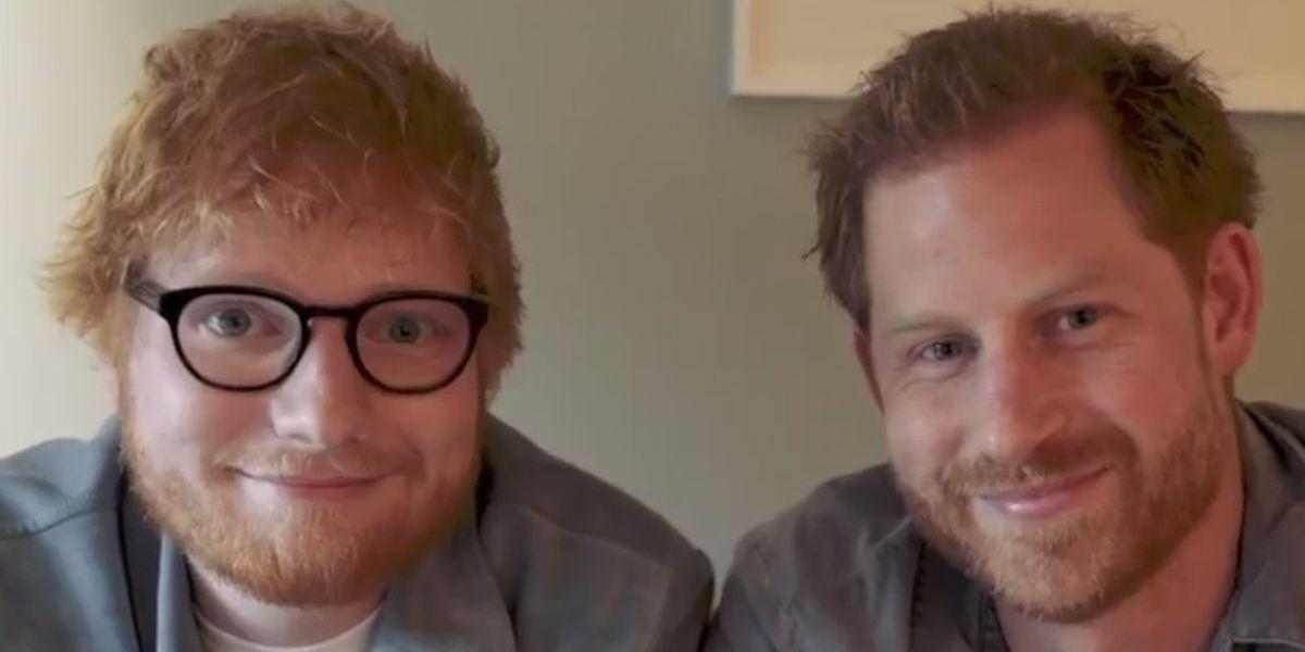 Ed Sheeran e Harry de Inglaterra
