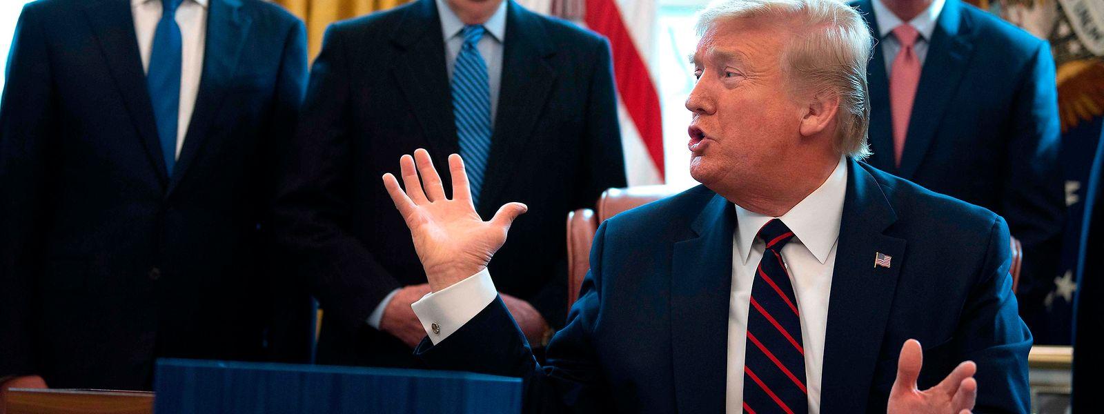 Le président Donald Trump a été accusé de minimiser la gravité de l'épidémie