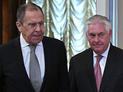 Russian Foreign Minister Sergei Lavrov and US Secretary of State Rex Tillerson