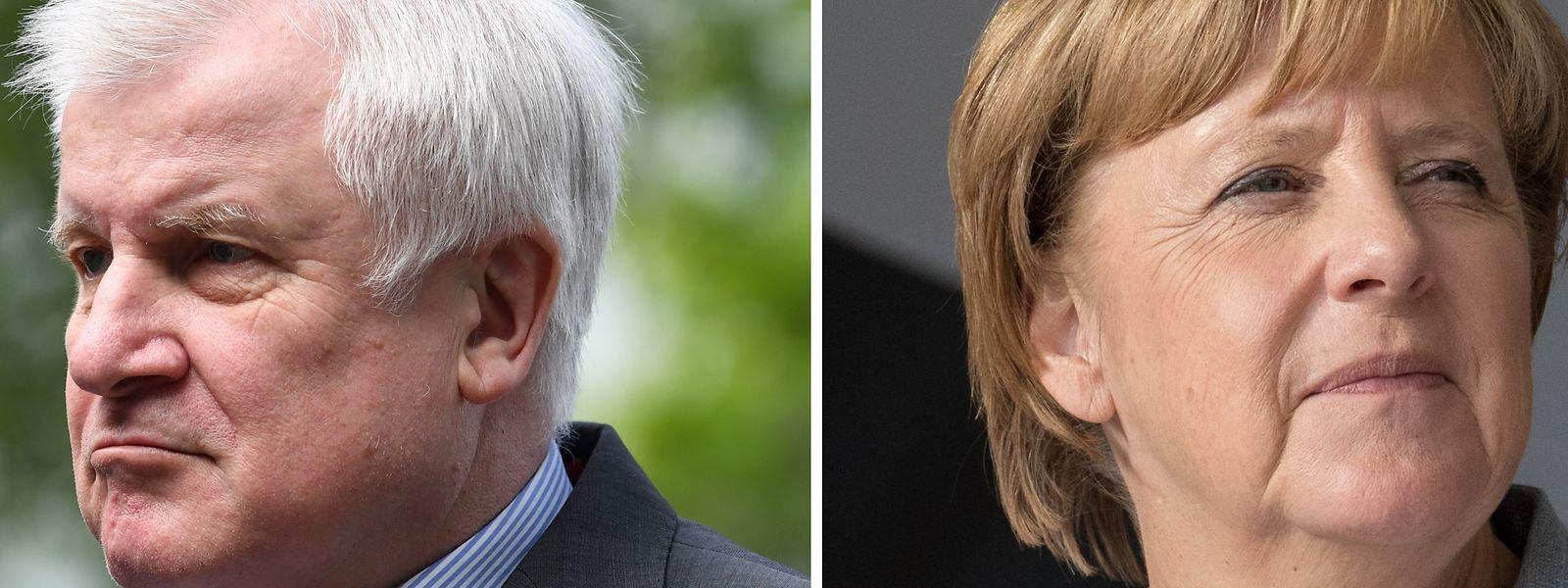 Trotz Unionsbündnis nicht ganz einig: Innenminister Horst Seehofer (CSU) und Kanzlerin Angela Merkel (CDU).